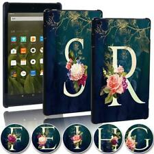 Printed Initial letter Tablet Cover Case for Amazon Fire 7 HD 8/8 Plus HD 10