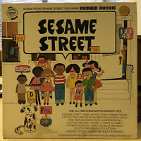 GOLDEN ORCHESTRA & CHORUS SONGS FROM SESAME STREET Rubber Duckie Vinyl Record LP