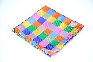 Lord R Colton Masterworks Pocket Square - Bright Color Uprising - Silk $75 New