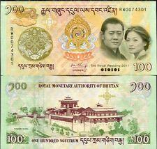 BHUTAN 100 NGULTRUM 2011 COMM. WEDDING P 35 UNC NO FOLDER