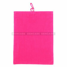 New  Universal 9'' Velvet Pouch Bag Sleeve Cover Case For iPad, Tablet -HOT PINK