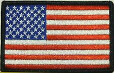 United States Flag Military Patch With VELCRO® Brand Fastener Black Border #7