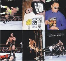 RARE! 2000 WWE THE ROCK SOLID Binder Exclusive 6 Card Uncut Sheet DWAYNE JOHNSON