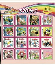 New 520 IN 1 Video Game Cartridge Multicart For NDS NDS NDSL NDSi 3DS 2DS XL LL