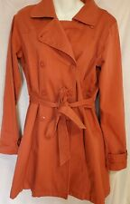 Women's M PATAGONIA NEGRIL Organic Cotton Double Breasted Trench Coat Salmon