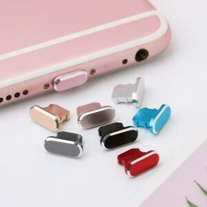 Colorful Metal Anti Dust Charger Dock Plug Stopper Cap Cover For IPhone X XR Max