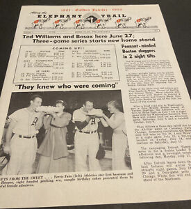 "1950 PHILADELPHIA ATHLETICS ""ELEPHANT TRAIL"" BASEBALL NEWSLETTER~MACK SHANTZ+"