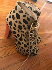 Jeffrey Campbell Lita Pony Hair Leopard Bootie - Size 7.5!