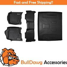 All Weather Floor Mats Set (2 Row) Set and Cargo Liner for Tahoe / Yukon Black