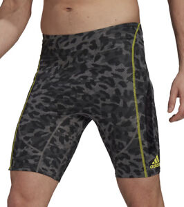 adidas Adizero PrimeBlue Mens Short Running Tights - Grey