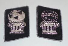 NWO Illuminati Officer Commander Unit Uniform Collar Tabs Black Omega Prophecy X