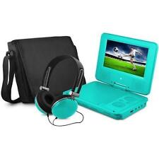 "Ematic EPD707TL 7"" Portable DVD Player with Matching Headphones & Bag,7"" Display"
