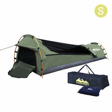 Weisshorn Biker Swag Camping Single Swags Tent Biking Deluxe Rip Stop Canvas Bag