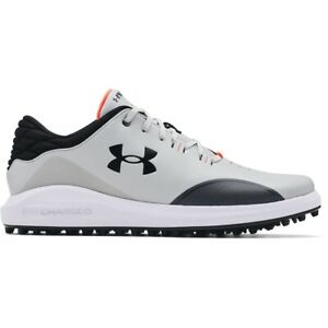 Mens Under Armour UA Draw Sport Spikeless Golf Shoes Gray Size 13 NEW