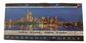New York City Skyline Panoramic Jigsaw Puzzle 750 Pc  3ft Buffalo (New) pre-9/11