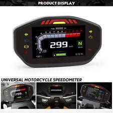 12V Universal LED Speedometer LCD Digital Odometer For 2.4 Cylinder Motorcycle