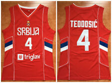 Milos Teodosic #4 Serbia Srbija National Basketball Jersey Triglav Stitched