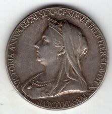 1897 Queen Victoria Diamond Jubilee Small Silver Medal by Royal Mint, De Saulles