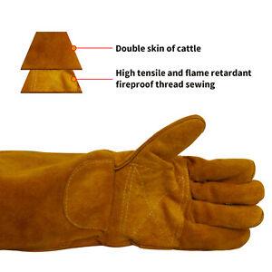 WIG MIG MMA Schweißhandschuhe hitzebeständige Plasmaschneider Leder Handschuhe