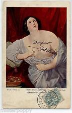 GUIDO RENI Morte di Cleopatra NUDE Viaggiata 1905 Francia