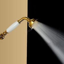 Brass & Classical Gold Telephone Hand Held Shower Head Spray Water Saving Shower