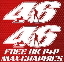 46 Stickers x2 for Rossi Ducati seat unit nose fairing
