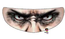 Mobster Helmet Visor Sticker Mafia Gang Motorcycle Shield Decal Tint Eyes NEW +