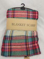 BGE Blanket Scarf PLAID Large Checked Wrap Shawl Winter/Fall Warm