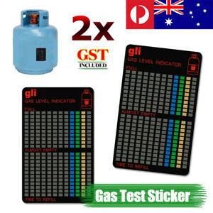 2X Magnetic Gas Tank Level Indicator Bottle Magnet Gauge BBQ Camping Outdoor