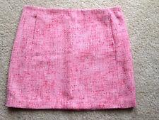 Women's Joe Fresh Size 12 Pink/White Knee Length Fully Lined Skirt