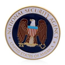 Golden National Security Agency Commemorative Challenge Coin Collection Art POP