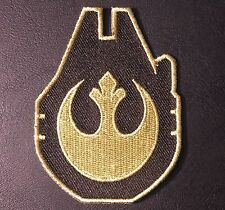 STAR WARS SPACESHIP WITH LOGO  ARMY BLACK/GOLD VELCRO® BRAND PATCH