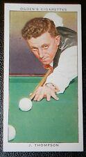 Billar Thompson Original Década de 1930 Vintage tarjeta en muy buena condición