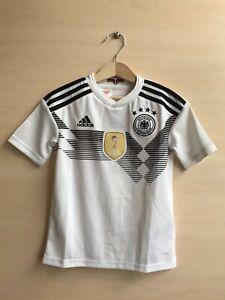 5+/5 Kids Deutschland 2018/2019 Home Size XS Germany shirt jersey soccer 7-8Y