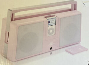 MTX IThunder Pink Portable iPod iPhone Boombox 30-pin & 3.5mm Aux In Port *NEW