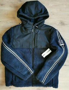 DKNY Men's DP9j8706 Navy Teddy Padded Coat / Jacket   Size: M, L  rrp:£195