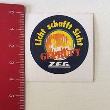 Aufkleber/Sticker: ZEG Geprüft - Licht Schafft Sicht (170416196)