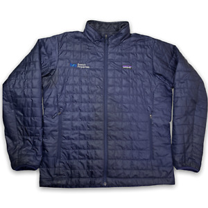 Patagonia Men's Nano Puff Quilted Jacket Size XL Navy Blue Full Zip Winter
