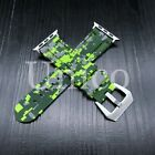 44MM Apple Rubber Digital Camouflage Green Watch Band Strap Iwatch Colorful