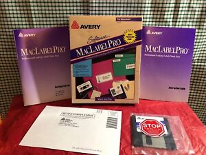 1993 Avery MacLabel Pro for Macintosh Original Packaging New Never Used Retro