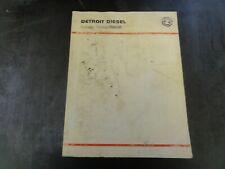 Detroit Diesel 8.2 Liter Service Manual