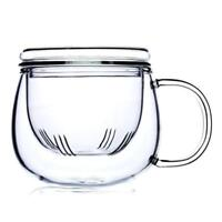 300ml Glass Tea Cup Creative Tea Kettle with Infuser Filter Tea Strainer Mug
