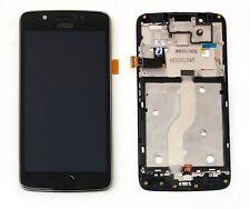 Motorola Moto G5 XT1677 XT1670 Touch Digitizer LCD Screen Assembly Frame Black
