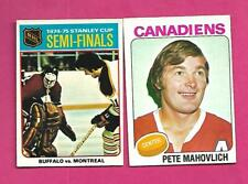 1975-76 OPC CANADIENS KEN DRYDEN + PETE MAHOVLICH EX-MT  CARD (INV# D2542)