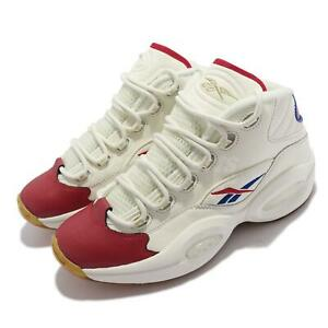 Reebok Question Mid Red Toe Allen Iverson White Men Basketball Shoes GZ7099