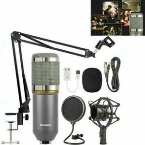 BM-800 Microfono Condensatore Kit Professionale Studio Emittente Registrazione
