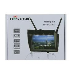 "Original Boscam Galaxy D2 7""TFT FPV Screen  5.8G LCD Monitor Dual Receiver I0X0"