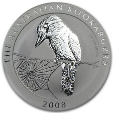 2008 Australia 1 oz Silver Kookaburra BU from mint-direct roll