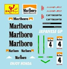 F1 DECALS MUSEUM COLLECTION D475 1/43 FOR SATO MCLAREN MP4/5, SUPER AGURI SA07