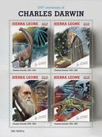 Sierra Leone - 2019 Charles Darwin Anniversary - 4 Stamp Sheet - SRL190501a